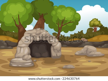 illustration of landscape with