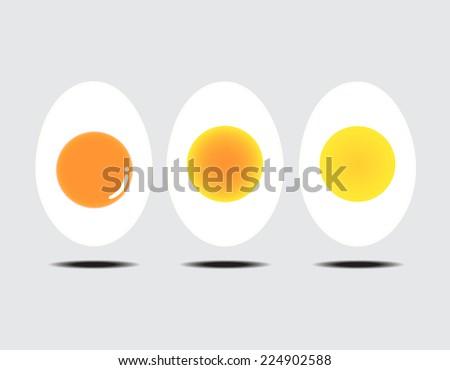 vector illustration of boiled