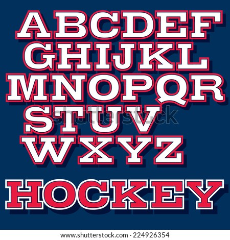 vector font for college sport