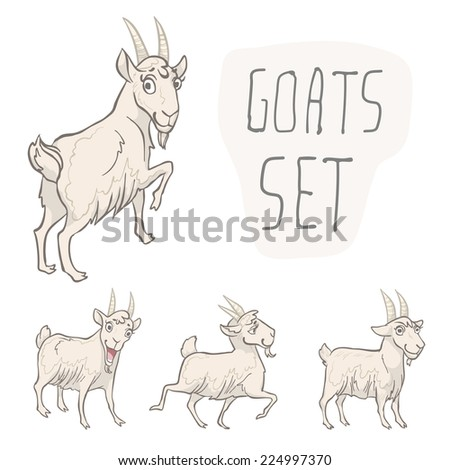 set of 4 characters goats
