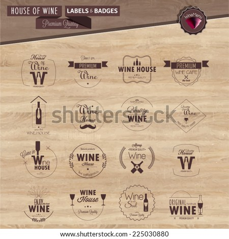 set of line labels for wine