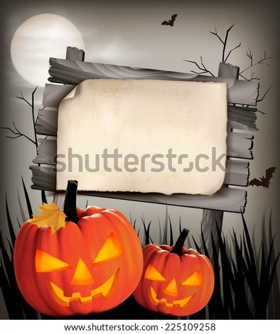 halloween background with two