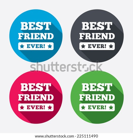 best friend ever sign icon