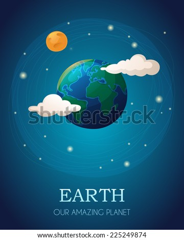 illustration of the earth with