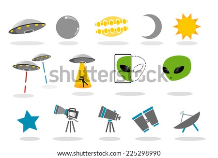 different types of alien icons