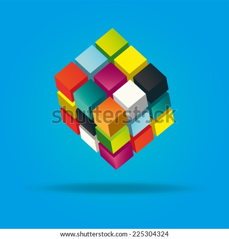 abstract box vector illustration