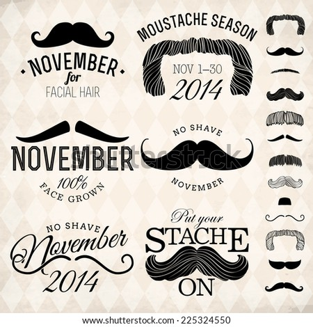 vector collection of moustache