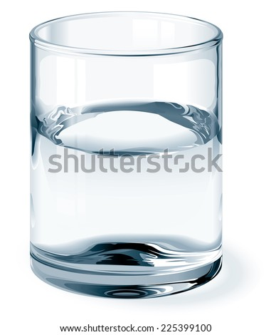 glass of water isolated on