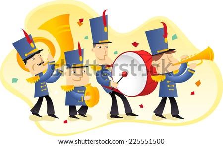 marching band illustration