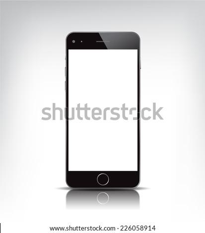 vector black realistic phone