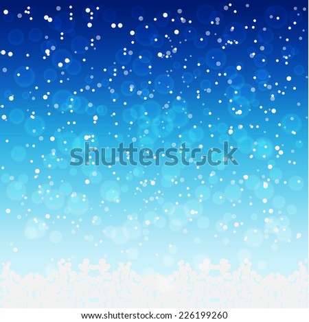 falling snow backgroundvector