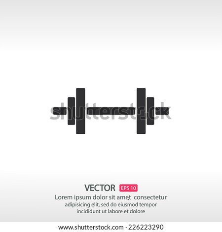 dumbbels    vector icon