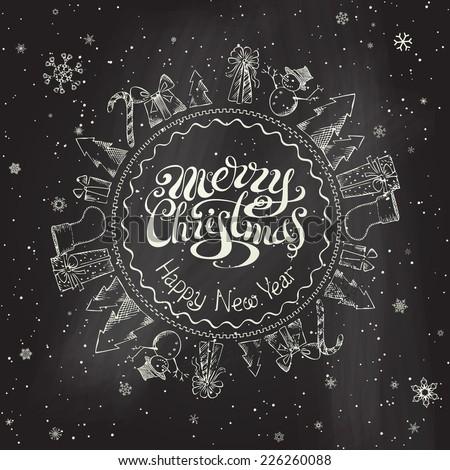 christmas chalkboard background