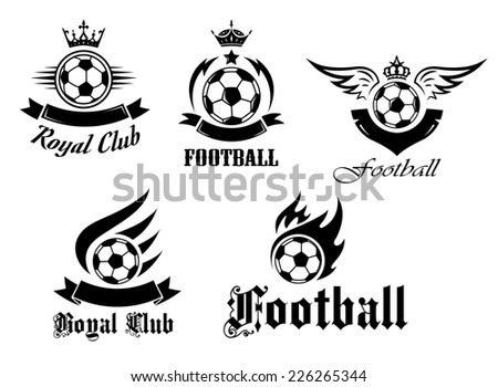 soccer and football emblems set