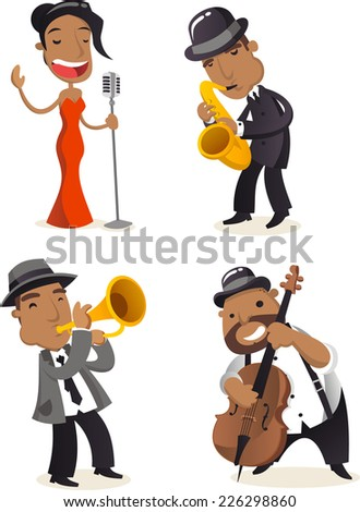 jazz musicians cartoon