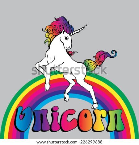 unicorn power with a rainbow