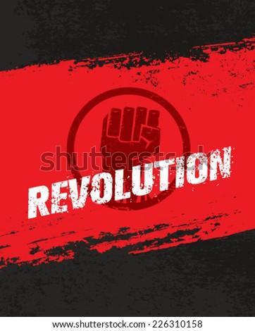 revolution fist grunge vector