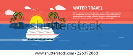 cruise ship and clear blue