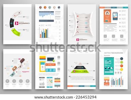 set of flyer  brochure design