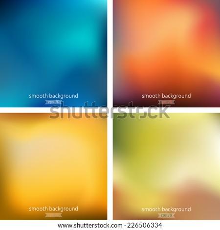 blurred background set vector