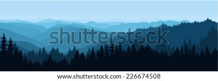 vector sunrise landscape in