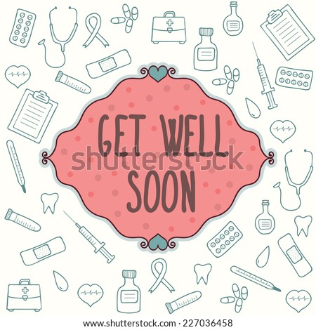 get well soon card concept