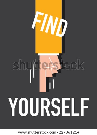 word find yourself vector