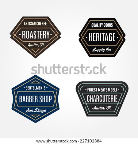set of original retro badge