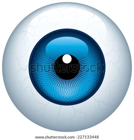 blue eyeball isolated on white