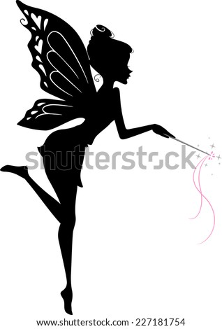 illustration featuring a fairy