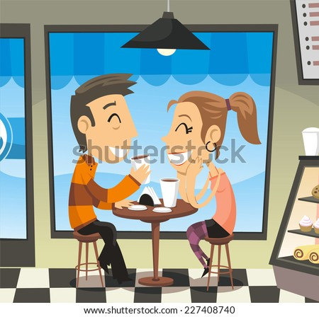 couple having a coffee at a