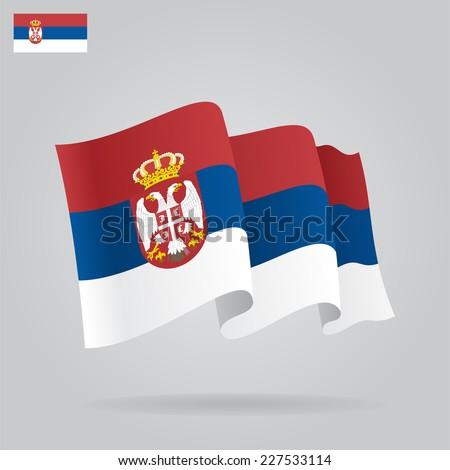 flat and waving serbian flag