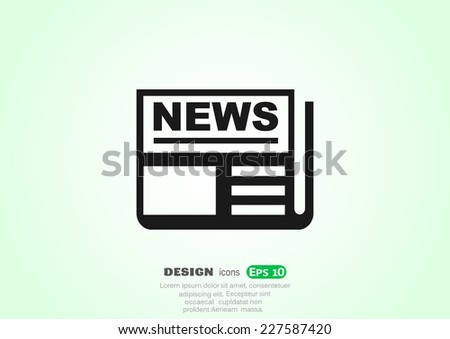news  web icon vector design