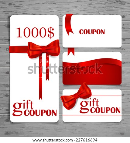 holiday gift coupons with gift