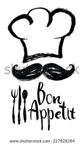 lettering bon appetit design