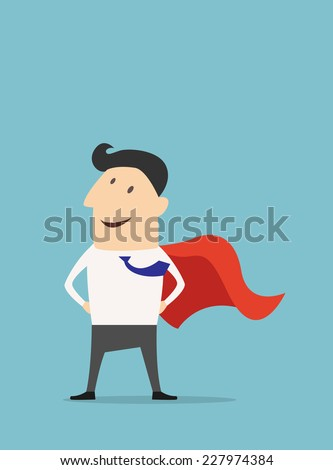 cartoon businessman super hero