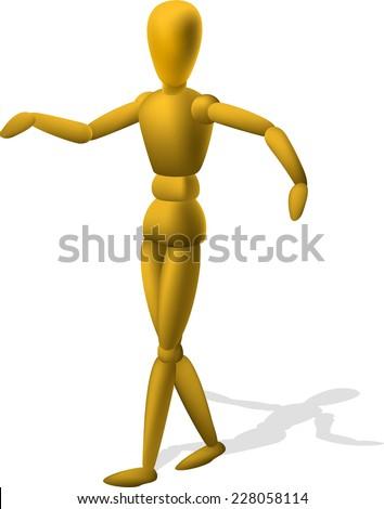 artist wooden mannequin