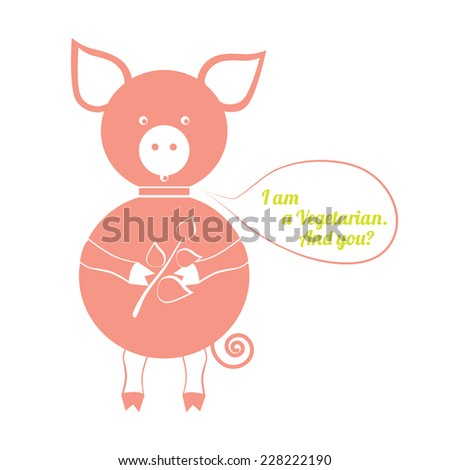 the stylized image of pig