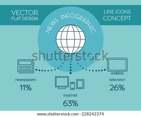 mass media news infographic