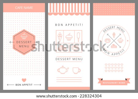 dessert menu card design