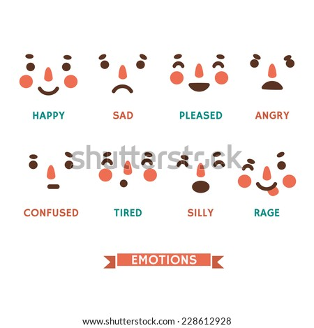 set of vector emotions of