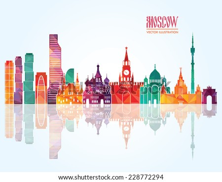 moscow vector illustration