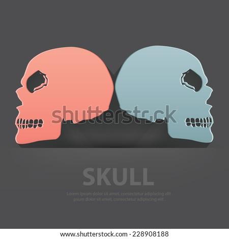skull symbol blank for your
