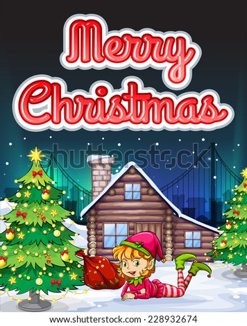 merry christmas theme card