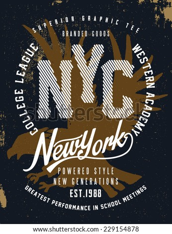 new york vintage graphic for t
