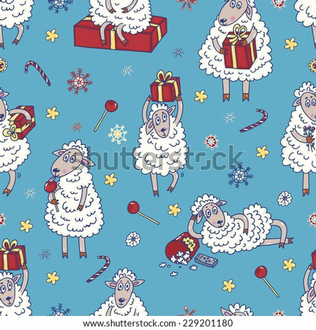 sheep background vector