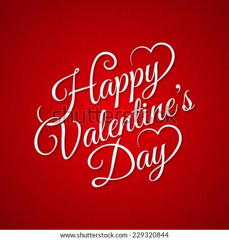valentine day vintage lettering