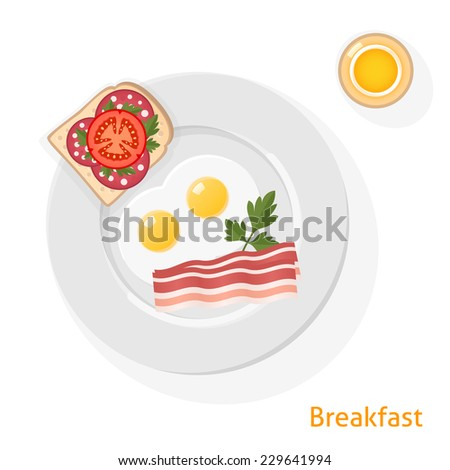 plate of breakfast with fried