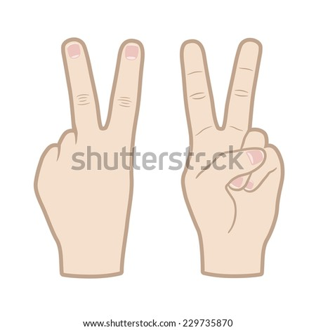 victory hand sign vector