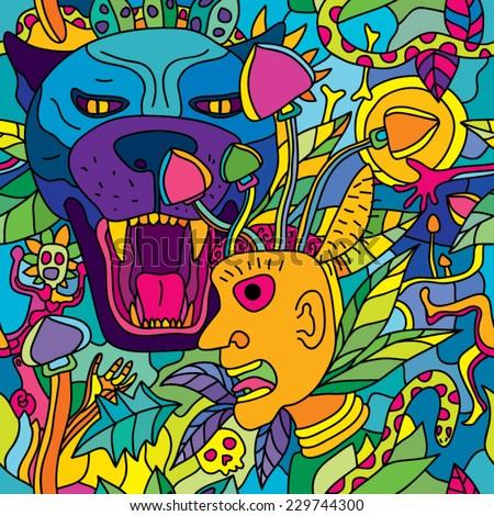 psychedelic magic mushroom
